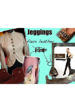 urban behavior jacket - Nicole shoes - Idylle top - Minnetonka boots - Kenda kis