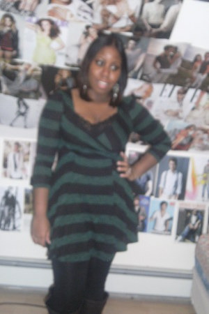 forest green Urban Outfitters dress