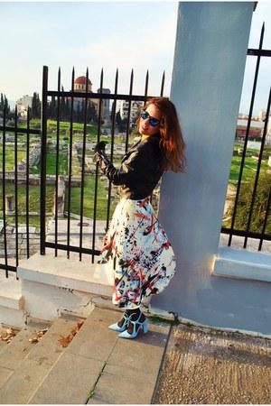 Zara skirt - Zara shoes - H&M jacket - asos sunglasses