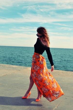 Self Made skirt - custom made blouse - Zara heels