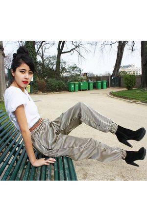 Topman shirt - Zara shoes - vintage belt - harem new pants