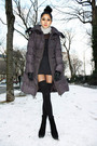 Black-american-apparel-dress-black-american-apparel-socks-gray-mango-coat