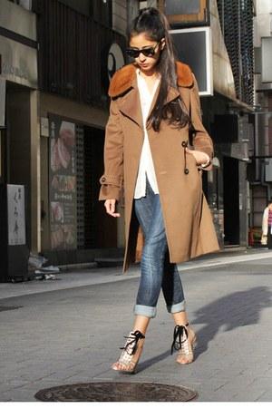 YSL sandals - MaxMara coat