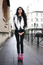 Marc Jacobs shoes - Naf Naf vest - Armani X dress - Max Mara socks - gianfranco