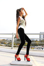 Black-american-apparel-leggings-red-marc-jacobs-shoes