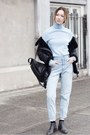 Black-ankle-senso-boots-light-blue-mom-jeans-urban-outfitters-jeans
