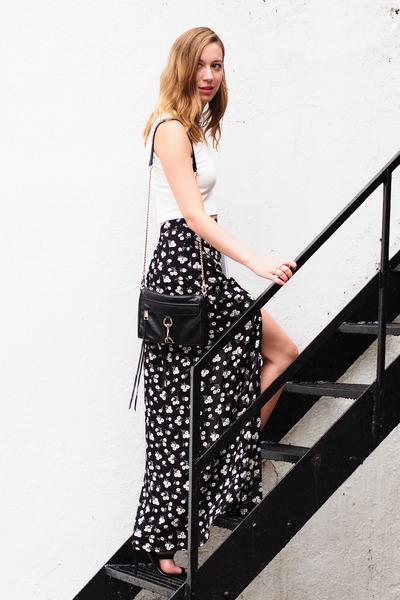 black mini mac Rebecca Minkoff bag - black Forever 21 skirt
