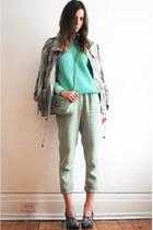 aquamarine linen American Apparel pants - aquamarine Forever21 jumper