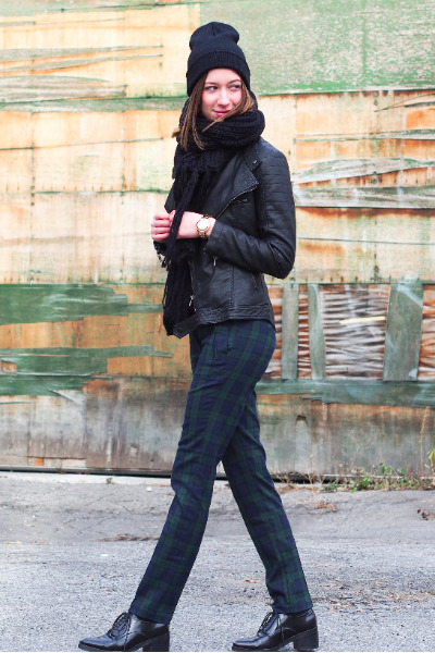 black Tabelina hat - black infiniteen jacket - black H&M scarf