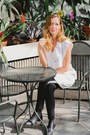 Black-senso-boots-white-thefreeisland-top-black-forever-21-pants