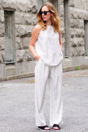 black Spitfire sunglasses - white striped Front Row Shop top