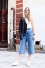 Sky-blue-topshop-jeans-dark-gray-paige-jacket-white-sandro-sneakers