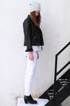 white Cheap Monday jeans - black Call it Spring boots - silver asos hat