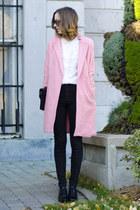 bubble gum OASAP coat - black easy American Apparel jeans