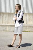 black Sanctuary vest - white Joe Fresh shirt - silver Front Row Shop shorts