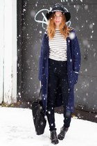 black Senso boots - black Forever 21 hat - white Joe Fresh sweater