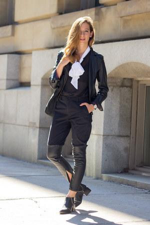 black Senso boots - black Front Row Shop pants - black Altuzarra for target top