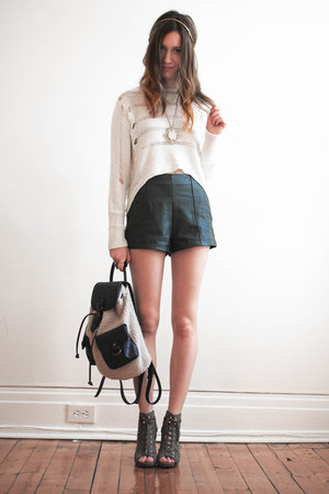 dark brown material girl bag - green Forever21 shorts