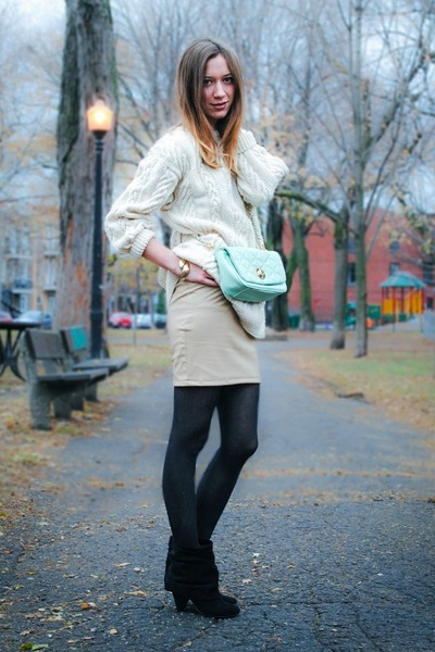 off white GoodNight Macaroon skirt - ivory vintage romper