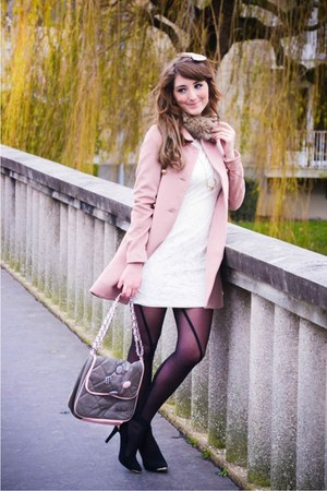 Front Row Shop coat - Zara dress - Lollipops bag