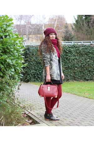 Zara boots - Zara hat - camouflage Zara blazer
