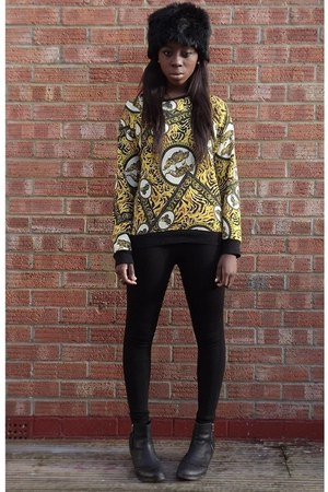 Topshop boots - asoscom hat - Topshop leggings - Topshop jumper