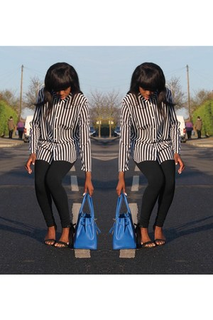 Vanilla Paris bag - Topshop leggings - Primark heels - H&amp;M top