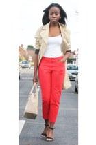 H&M coat - Primark vest - H&M pants - Primark heels