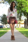 Burnt-orange-michael-kors-boots-hot-pink-forever-21-blouse