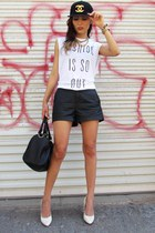 Virgo LA local store hat - H&M heels - Forever 21 t-shirt - Michael Kors watch