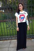 Forever21 shirt - Forever21 bag - black DIY skirt - Payless sandals