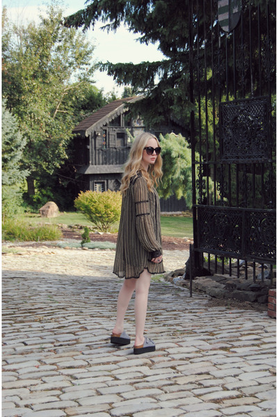 dark khaki free people dress - heather gray Sixtyseven sandals