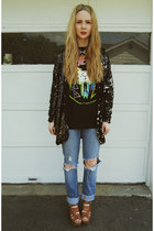 434b2ef2c21d black gifted Wasteland jacket - black gifted dimepiece t-shirt · white  Wildfox x Jeffrey Campbell shoes ...