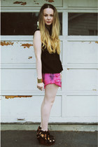 hot pink gifted Native Heart shorts - black gifted She Inside shirt