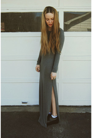 black gifted OASAP shoes - gray gifted She Inside dress