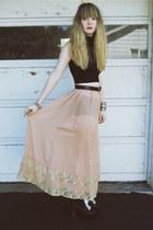 light pink Forever 21 skirt - black Jeffrey Campbell shoes