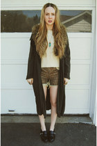 navy gifted minimarket coat - cream gifted Sheinside sweater