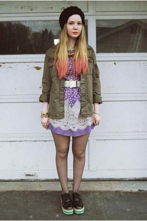 purple Tunnel Vision dress