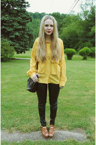black gifted sammydress bag - mustard vintage shirt