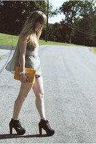black Jeffrey Campbell shoes - tan gifted Shop The Far Out shirt