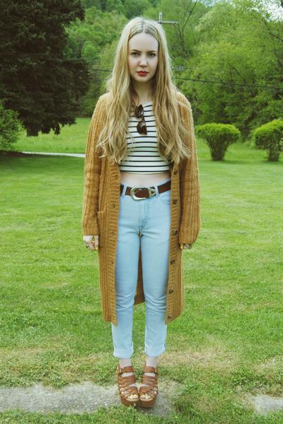 light blue gifted getwear jeans - mustard gifted Koshka sweater