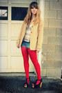 Dark-khaki-new-york-co-jacket-cream-crochet-vintage-shirt-red-target-tight