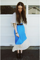 blue gifted o-mighty skirt - white H&M shirt - black Alexander Wang flats