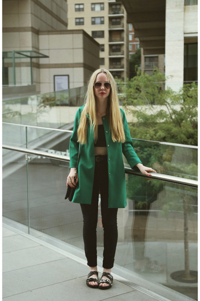 green 6ks jacket - black Kill City jeans - black Steve Madden sandals