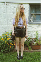 black vintage shorts - light purple gifted Lookbook Store shirt