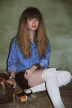 black foxy platform Jeffrey Campbell shoes - blue chambray wholesale-dressnet sh