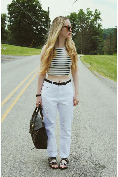 white own the runway jeans - white Wasteland shirt - black 31 Phillip Lim bag