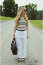 white own the runway jeans - white Wasteland shirt - black 31 Phillip Lim bag