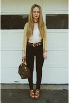 dark brown Louis Vuitton bag - black gifted Kill City jeans