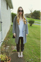 heather gray Front Row Shop jacket - white Urban Outfitters t-shirt